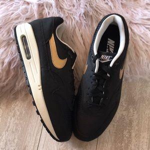 bdd79064d3 Nike Shoes   Nwt Id Air Max 1 Premium Black Gold   Poshmark